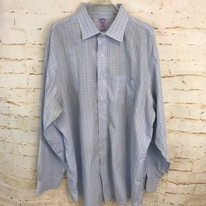 Brooks Brothers 17.5 neck striped button down